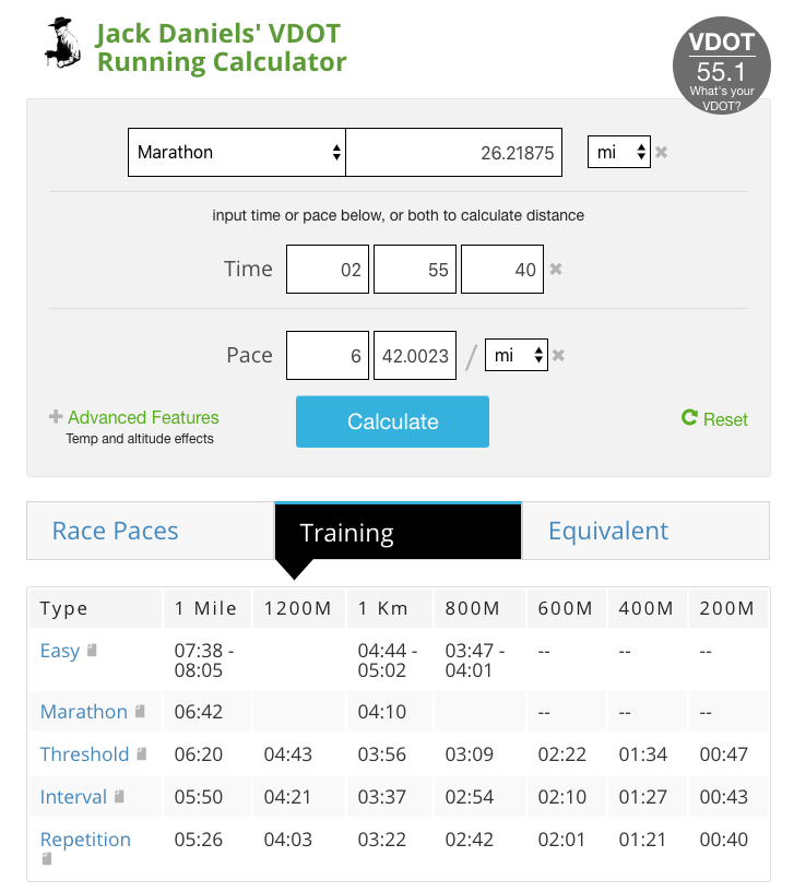 VDOT-running-calculator